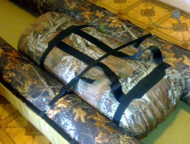 Посадка на рюкзаках в байдарке Налим