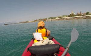 Поход с детьми на байдарке на море